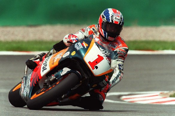 GERMANY - JULY 19:  GP von DEUTSCHLAND 1998 Sachsenring; Mick DOOHAN/AUS - 500 ccm -  (Photo by Marcus Brandt/Bongarts/Getty Images)